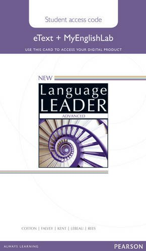 9781447961444: New Language Leader Advanced eText Access Card with MyEnglishLab Pack