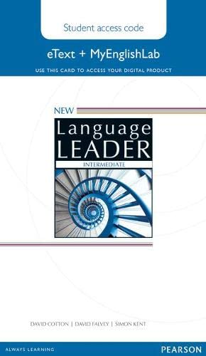 9781447961505: New Language Leader Intermediate Etext Access Card with MyEnglishLab Pack