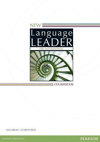 9781447961529: New Language Leader Pre-Intermediate Coursebook [Lingua inglese]