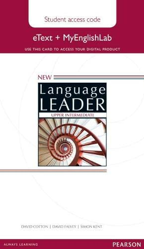 9781447961567: New Language Leader Upper Intermediate eText Access Card with MyEnglishLab Pack