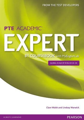 9781447962021: Expert Pearson Test of English Academic B1 Coursebook and MyEnglishLab Pack