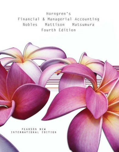 9781447963677: Horngren's Financial & Managerial Accounting Pearson New International Edition, plus MyAccountingLab without eText