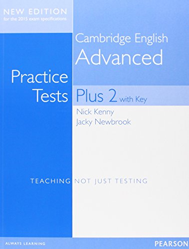9781447966203: Cambridge Advanced Practice Tests Plus New Edition Students' Book with Key [Lingua inglese]