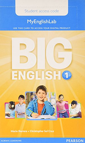 9781447972556: Big English 1 Pupil's MyEnglishLab Access Code (standalone)