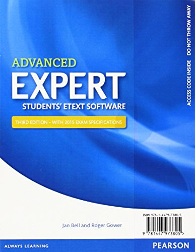 9781447973805: Expert Advanced 3rd Edition eText Students' Pin Card