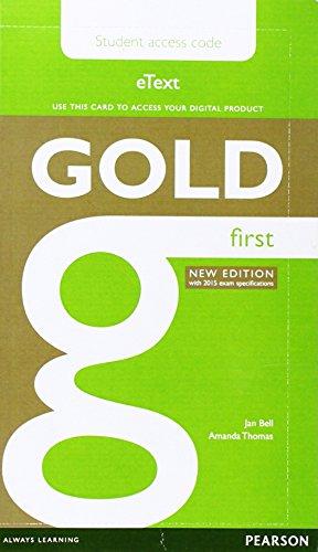 Gold First New Edition eText Student Access: Jan Bell, Amanda