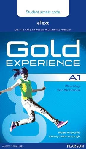 9781447973942: Gold Experience A1 eText Student Access Card