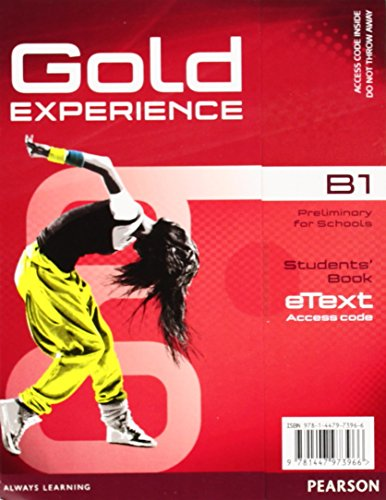 9781447973966: Gold Experience B1 eText Student Access Card
