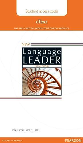 New Language Leader Elementary Student eText Access: Ian Lebeau, Gareth