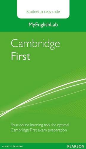 9781447975038: MyEnglishLab Cambridge First Standalone Student Access Card (Exam MELs)