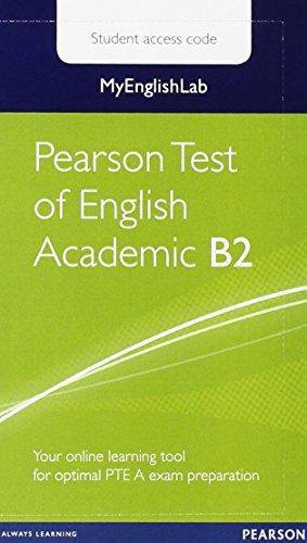 Myenglishlab Pearson Test of English Academic B2 Standalone Student Access Card