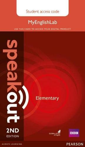 9781447976745: Speakout Elementary 2nd Edition MyEnglishLab Student Access Card (Standalone)