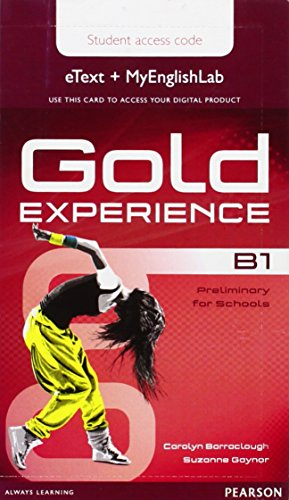 9781447978916: Gold Experience B1 eText & MyEnglishLab Student Access Card