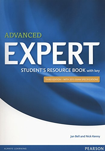 9781447980605: Expert Advanced 3rd Edition Student's Resource Book with Key [Lingua inglese]