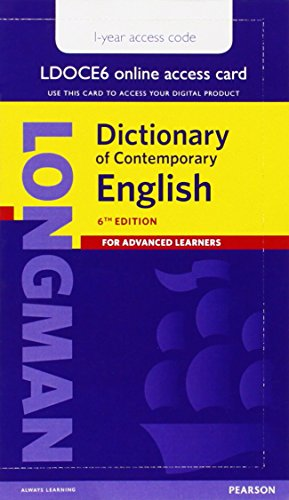 9781447981589: LDOCE 6 Sng User AccCrd 1-yr Pin (6th Edition) (Longman Dictionary of Contemporary English)