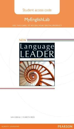 9781447988588: New Language Leader Elementary MyEnglishLab Access Card Standalone