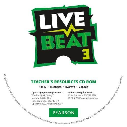9781447990635: Live Beat 3 Teacher's Resources CD-ROM (Upbeat)