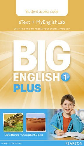 9781447994237: Big English Plus 1 Pupil's Etext and MyEnglishLab Access Card