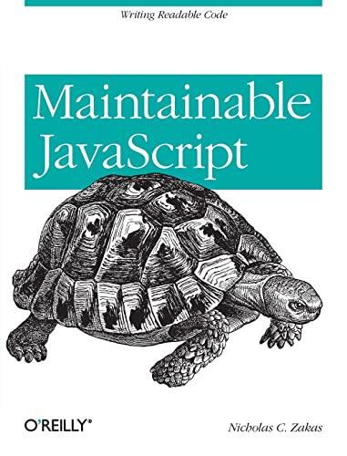 9781449327682: Maintainable JavaScript
