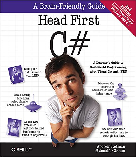 Head First C#, 2E: A Learner's Guide to Real-World Programming with Visual C# and .NET (Head First Guides) (1449380344) by Andrew Stellman; Jennifer Greene