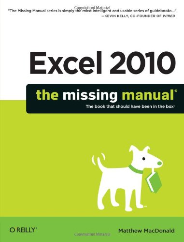 9781449382353: Excel 2010: The Missing Manual