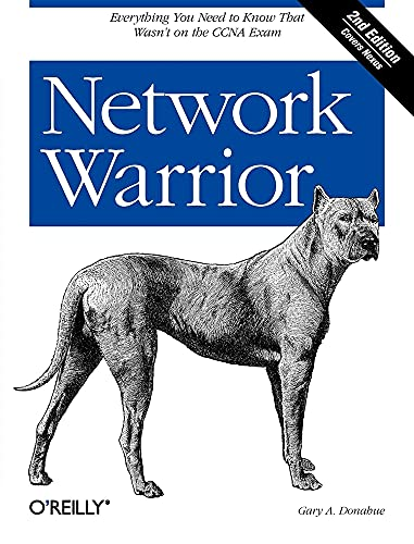 Network Warrior 9781449387860 Pick up where certification exams leave off. With this practical, in-depth guide to the entire network infrastructure, you'll learn how to deal with real Cisco networks, rather than the hypothetical situations presented on exams like the CCNA. Network Warrior takes you step by step through the world of routers, switches, firewalls, and other technologies based on the author's extensive field experience. You'll find new content for MPLS, IPv6, VoIP, and wireless in this completely revised second edition, along with examples of Cisco Nexus 5000 and 7000 switches throughout. Topics include: An in-depth view of routers and routing Switching, using Cisco Catalyst and Nexus switches as examples SOHO VoIP and SOHO wireless access point design and configuration Introduction to IPv6 with configuration examples Telecom technologies in the data-networking world, including T1, DS3, frame relay, and MPLS Security, firewall theory, and configuration, as well as ACL and authentication Quality of Service (QoS), with an emphasis on low-latency queuing (LLQ) IP address allocation, Network Time Protocol (NTP), and device failures