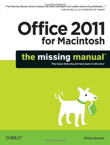9781449393359: Office 2011 for Macintosh: The Missing Manual (Missing Manuals)