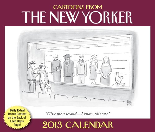 Cartoons from the New Yorker. 2013 Desk Calendar in Plastic Stand.