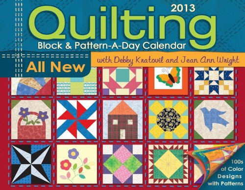 9781449419301: Quilting Block & Pattern-a-Day 2013 Calendar