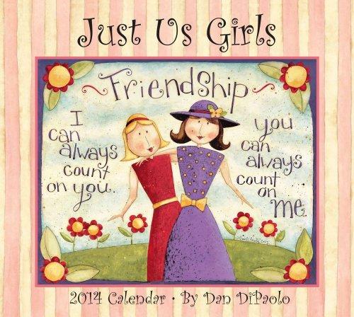 9781449431488: Just Us Girls 2014 Deluxe Wall Calendar