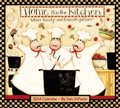 9781449431495: Home Is in the Kitchen 2014 Deluxe Wall Calendar