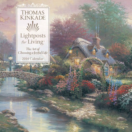 Thomas Kinkade Lightposts for Living 2014 Wall Calendar: Kinkade, Thomas