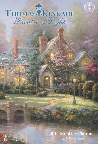 9781449432515: Thomas Kinkade Painter of Light with Scripture 2014 Large Monthly Planner Calen