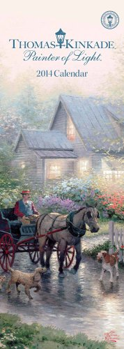 9781449432546: Thomas Kinkade Painter of Light 2014 Slimline Calendar