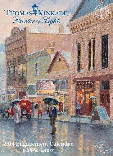 9781449432553: Thomas Kinkade Painter of Light with Scripture 2014 Engagement Calendar