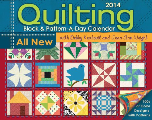 9781449432997: Quilting Block & Pattern-A-Day 2014 Calendar
