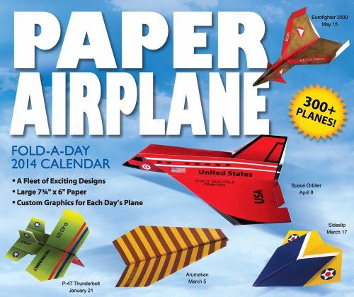 9781449435097: Paper Airplane Fold-a-Day 2014 Day-to-Day Calendar