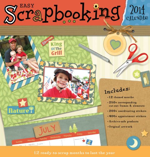 9781449435110: Easy Scrapbooking 2014 Wall Calendar