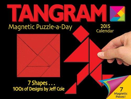 9781449453657: Tangram Magnet Puzzle-a-Day 2015 Calendar