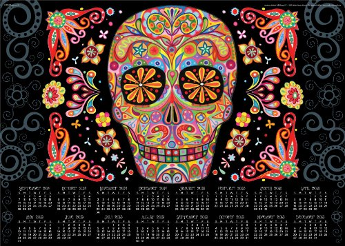 9781449458164: Sugar Skulls 16-Month Calendar Poster: September 2014 Through December 2015