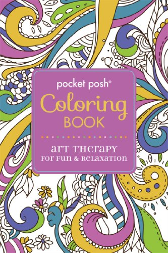 9781449458744: Pocket Posh Adult Coloring Book: Art Therapy for Fun & Relaxation (Pocket Posh Coloring Books)