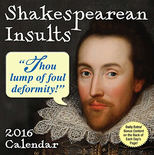9781449465612: Shakespearean Insults 2016 Day-to-Day Calendar