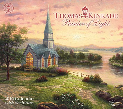 9781449466367: Thomas Kinkade Painter of Light (Scripture) 2016 Deluxe Wall Calendar