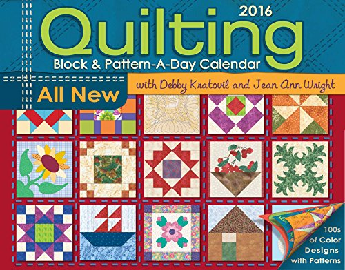 9781449466480: Quilting Block & Pattern-A-Day 2016 Calendar