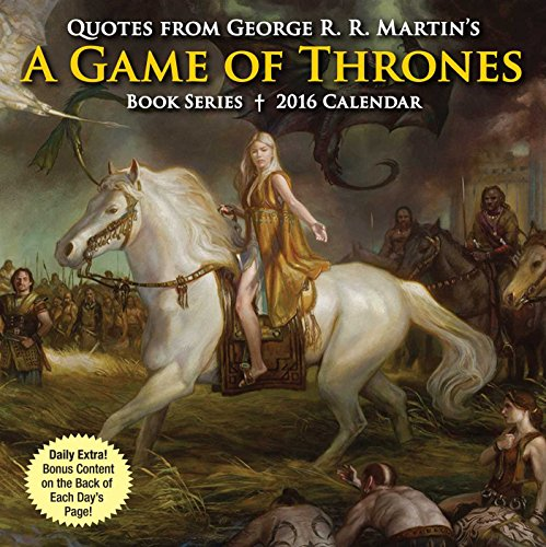 9781449468705: Quotes from George R. R. Martin's a Game of Thrones Book Series Day-To-Day Calendar