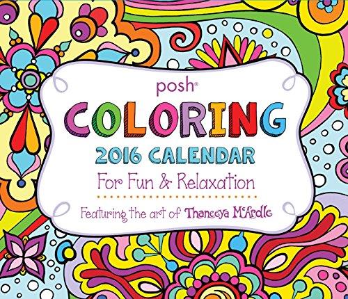 9781449469412: Posh Colouring 2016 Day-to-Day Calendar