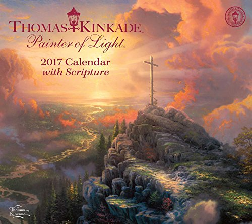 9781449476168: Thomas Kinkade Painter of Light with Scripture 2017 Deluxe Wall Calendar
