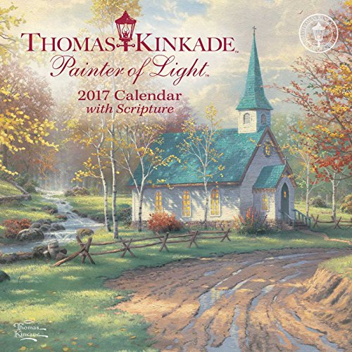 9781449476212: Thomas Kinkade Painter of Light with Scripture 2017 Mini Wall Calendar