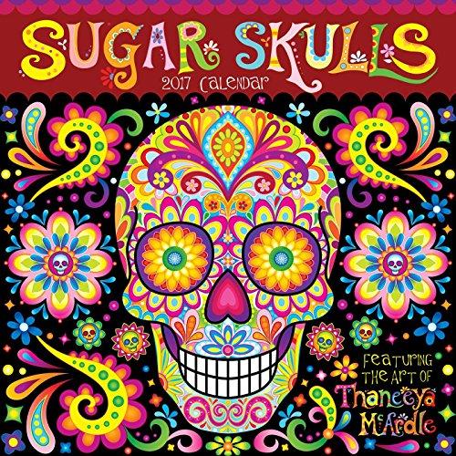 9781449477233: Sugar Skulls 2017 Wall Calendar (Square Wall)