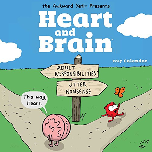 9781449478308: Heart and Brain 2017 Wall Calendar